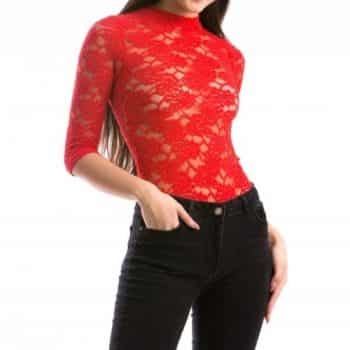 Body Lace Red