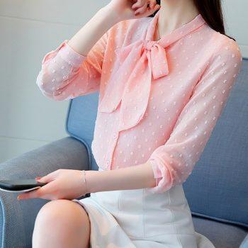Camasa Bow Pink