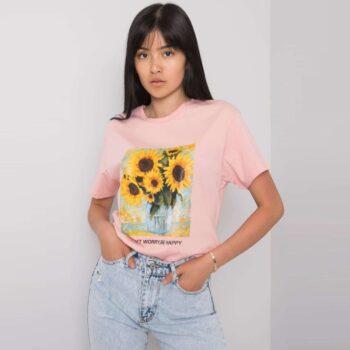 Tricou Sunflowers Pink